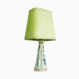 Mid-Century Fiberglass and Ceramic Table Lamp