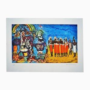 Póster Kachina and Masai Ritual de Malcolm Morley, 1986