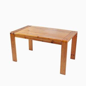 Mesa de comedor danesa de madera de pino, años 70