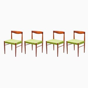 Esszimmerstühle aus Teak von H. W. Klein für Bramin, 1960er, 4er Set
