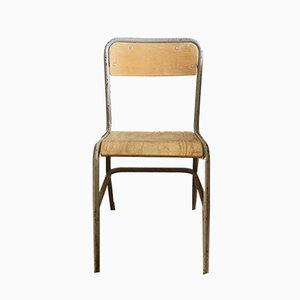Vintage French School Chair, 1940s