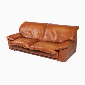 Large Leather Sofa by Harry de Groot for Leolux, 1970s