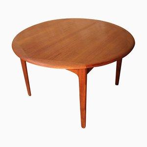 Mesa de comedor danesa extensible de teca y palisandro de Svend Åge Madsen para Knudsen & Son, años 60