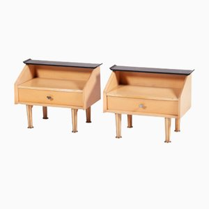 Danish Nightstands, 1950s, Set of 2