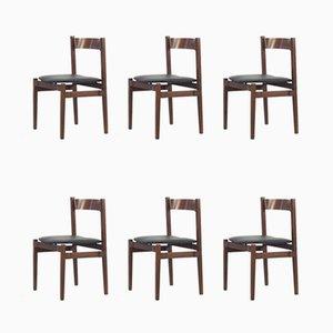 Chaises de Salle à Manger Modèle 101 Vintage en Palissandre par Gianfranco Frattini pour Cassina, années 60, Set de 6