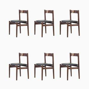 Vintage Modell 101 Esszimmerstühle aus Palisander von Gianfranco Frattini für Cassina, 1960er, 6er Set