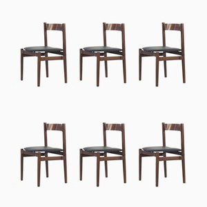 Vintage Rosewood Model 101 Dining Chairs by Gianfranco Frattini for Cassina, 1960s, Set of 6