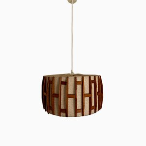 Vintage Scandinavian Teak Pendant Lamp