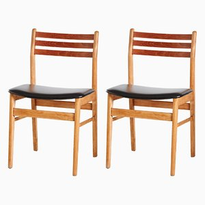 Danish Teak Side Chairs from Sax, 1960s, Set of 2