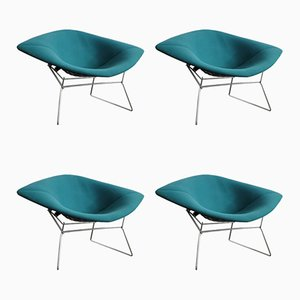 Large Diamond Lounge Chairs by Harry Bertoia for Knoll Inc. / Knoll International, 1990s, Set of 4