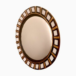 Gilded Ceramic Mirror, 1960s