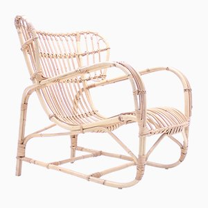 Bamboo and Rattan Easy Chair by Viggo Boesen, 1960s