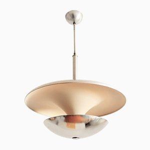 Lámpara de techo alemana Bauhaus de aluminio, años 30