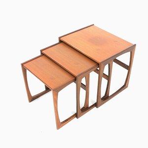 Tables Gigognes Quadrille Mid-Century en Teck par Victor Wilkins pour G Plan, années 70