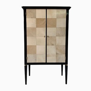 Art Deco Italian Parchment Cabinet, 1950s