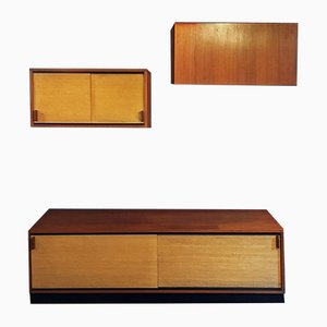Italian Teak Sideboard and Cabinets Set, 1960s