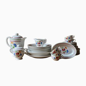 French Tableware Set, 1940s, Set of 37