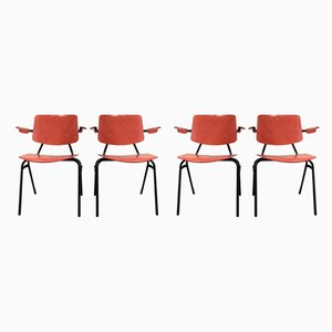 Mid-Century Industrial Dining Chairs by Kho Liang Ie for CAR Katwijk, Set of 4