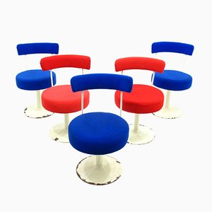 Swivel Side Chairs, 1970s, Set of 5