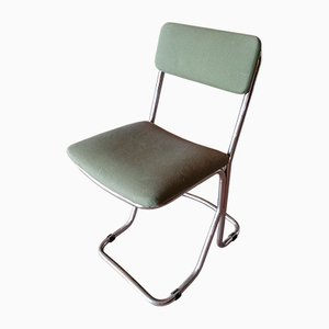 Italian Chromed Steel Desk Chair, 1960s