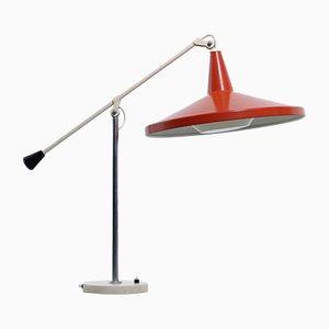 Lampe de Bureau Panama Rouge par Wim Rietveld pour Gispen, années 50