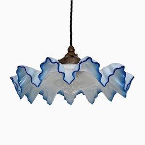 Lámpara de techo francesa en azul pálido, años 30