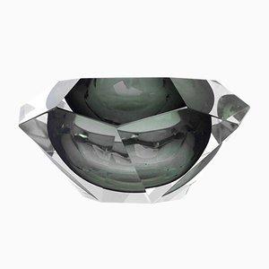Cuent italiano en forma de diamante de vidrio de Flavio Poli para Seguso, años 70
