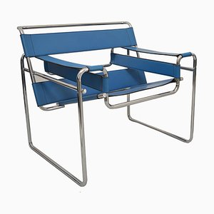 Wassily Armlehnstuhl aus Chrom & Leder von Marcel Breuer für Gavina, 1960er