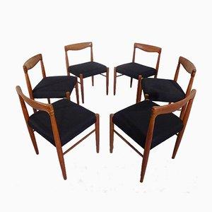 Sedie da pranzo in teak di H. W. Klein per Bramin, Danimarca, anni '60, set di 6