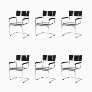 Bauhaus Armchairs, 1930s, Set of 6