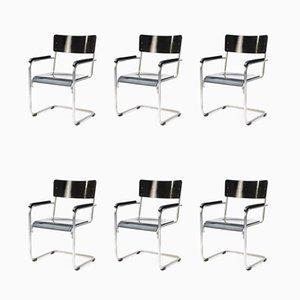 Bauhaus Armlehnstühle, 1930er, 6er Set