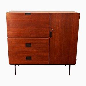 Mueble modelo C01 holandés de teca de Cees Braakman para Pastoe, años 50