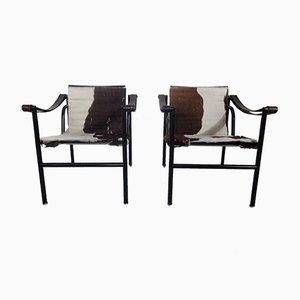 Modell LC1 Armlehnstühle von Le Corbusier für Cassina, 1970er, 2er Set