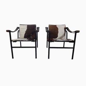 Poltrone LC1 di Le Corbusier per Cassina, anni '70, set di 2
