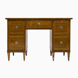 Antiker Biedermeier Schreibtisch aus Nussholzfurnier