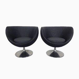 Space Age Italian Swivel Shell Chair, 1960s