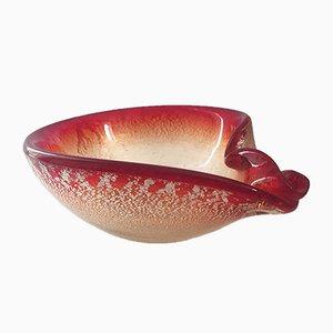 Italienische Schale aus Muranoglas, 1960er