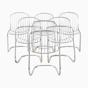 Esszimmerstühle von Gastone Rinaldi, 1970er, 6er Set