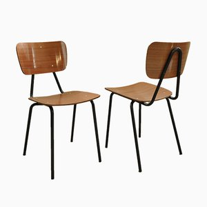 Vintage Formica Side Chairs, 1960s, Set of 2