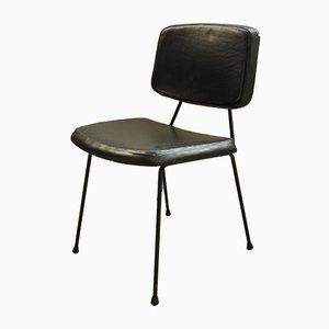 Chaise d'Appoint Modèle CM 196 Noire par Pierre Paulin pour Thonet, 1960s