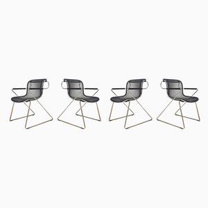 Model Penelope Dining Chairs by Charles Pollock for Castelli / Anonima Castelli, 1980s, Set of 4
