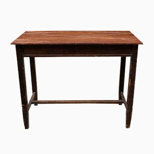 Rechteckiger italienischer Schreibtisch aus Nussholz & Buche, 1960er