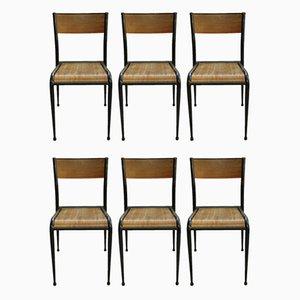 Schulstühle von Mullca, 1960er, 8er Set