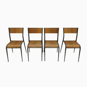 Sedie da scuola di Mullca, anni '60, set di 4