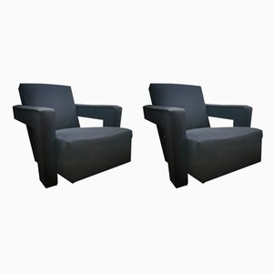 Dutch Model Utrecht Armchairs by Gerrit Rietveld for Cassina, 1990s, Set of 2