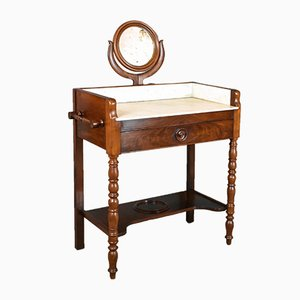 Vintage French Mahogany Dressing Table, 1920s