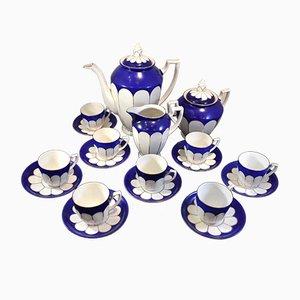 Blaues Kaffeeservice von Karlsbad, 1930er
