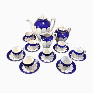 Blue Coffee Set from Karlsbad, 1930s