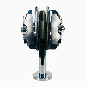 3-Armige italienische Tischlampe aus Chrom von Gaetano Sciolari, 1960er