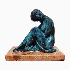 Art Déco Skulptur aus Bronze von Juan de Avalos y Taborda, 1920er